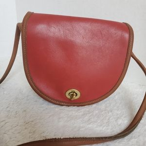 Vintage Coach Red Crossbody Bag